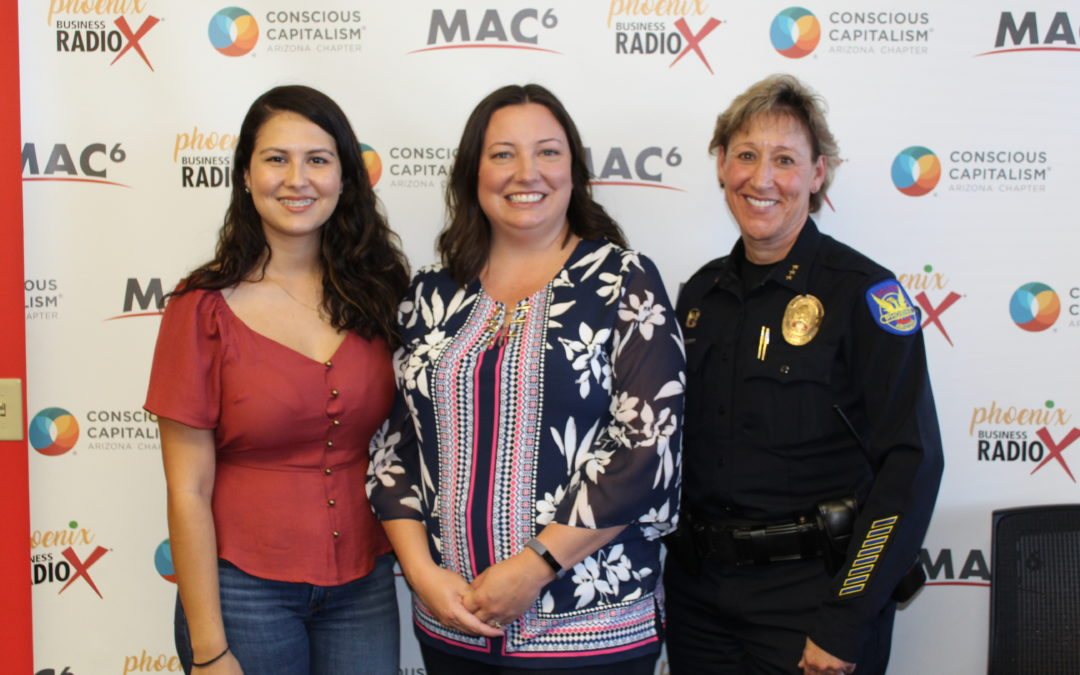 Brenda Puga with Special Olympics Arizona and Mary Roberts with Phoenix Police Department