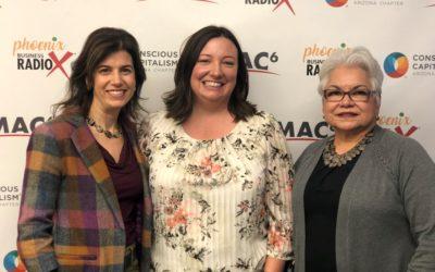 Kimberly Kur and Elisa de la Vara with Arizona Community Foundation